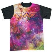 Jla - Wonder Galaxy - Short Sleeve Black Back Shirt - X-Large