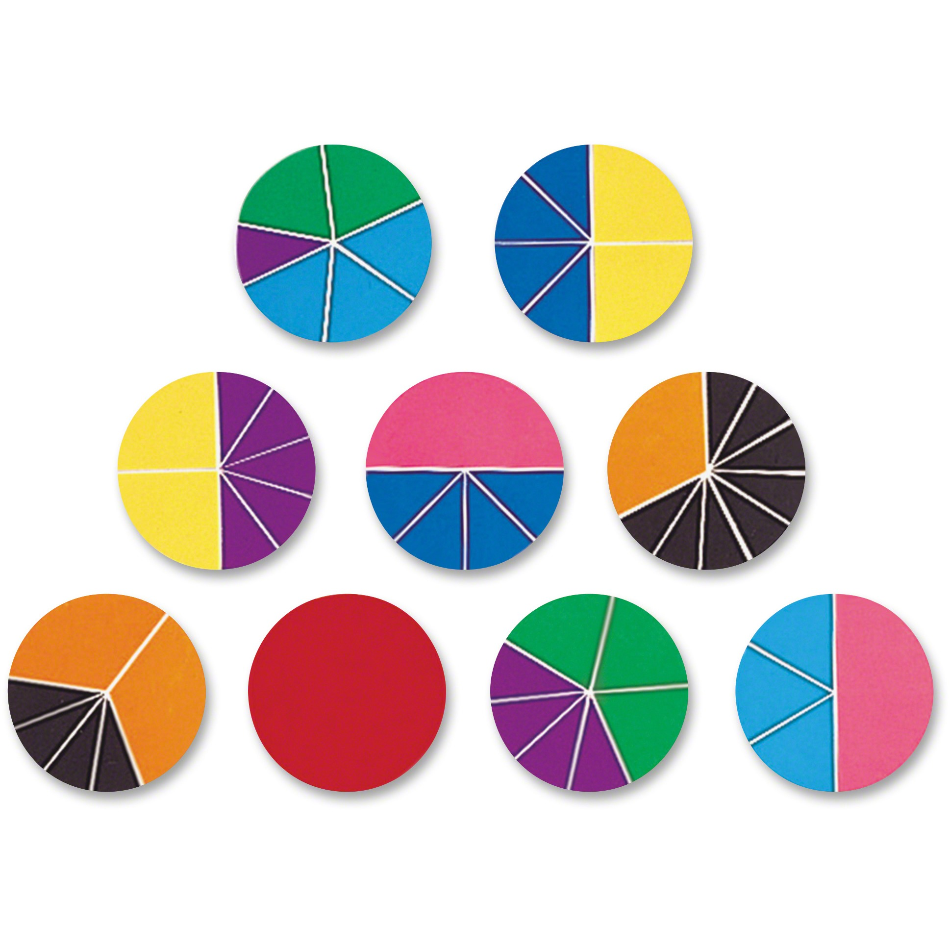 Rainbow Fraction, LRNLER0617, Deluxe Circles Set, 9 / Set, Multi