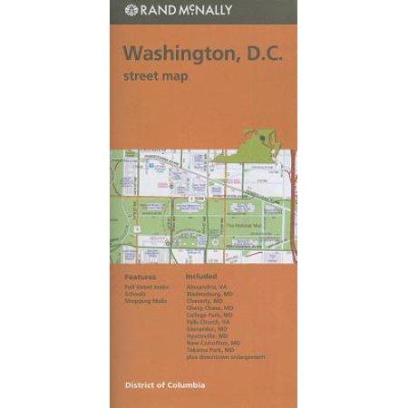 Folded Map Washington Streets DC (Paperback) (Washington Dc Guide)