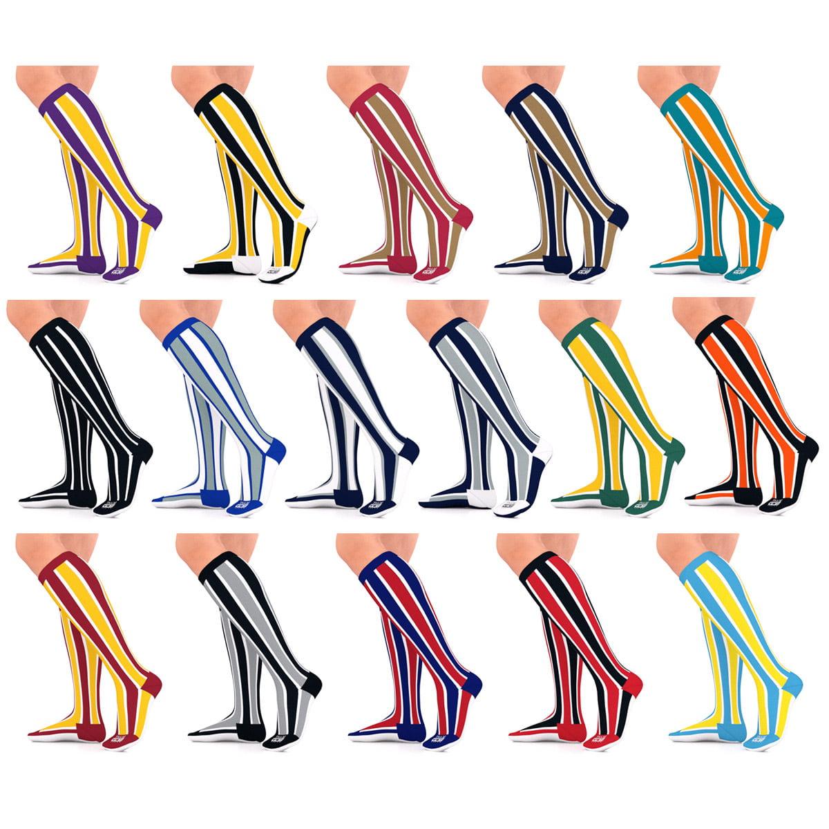 Go2 Team 15-20 mmhg Compression Socks For Women & Men Graduated Sock (Black/White S, 1 Pair)