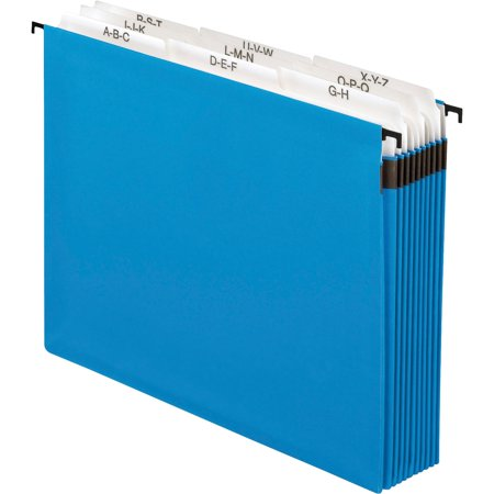 Pendaflex, PFX59225, 9-divider A-Z SureHook Hanging File, 1 Each, Blue