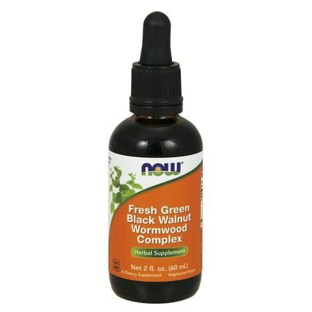 NOW Supplements, Fresh Green Black Walnut Wormwood Complex, 2-Ounce