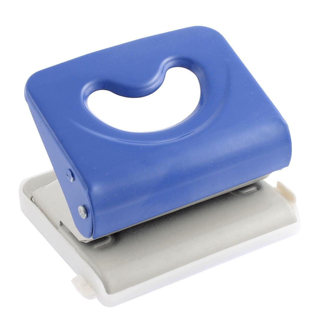 Unique Bargains Press Type 80mm Hole Distance Double 6mm Holes Paper Punching Tool Blue