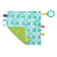 Bright Starts Little Taggies 2-Sided Soothing Blankie Take-Along Toy - Palms, Ages Newborn +