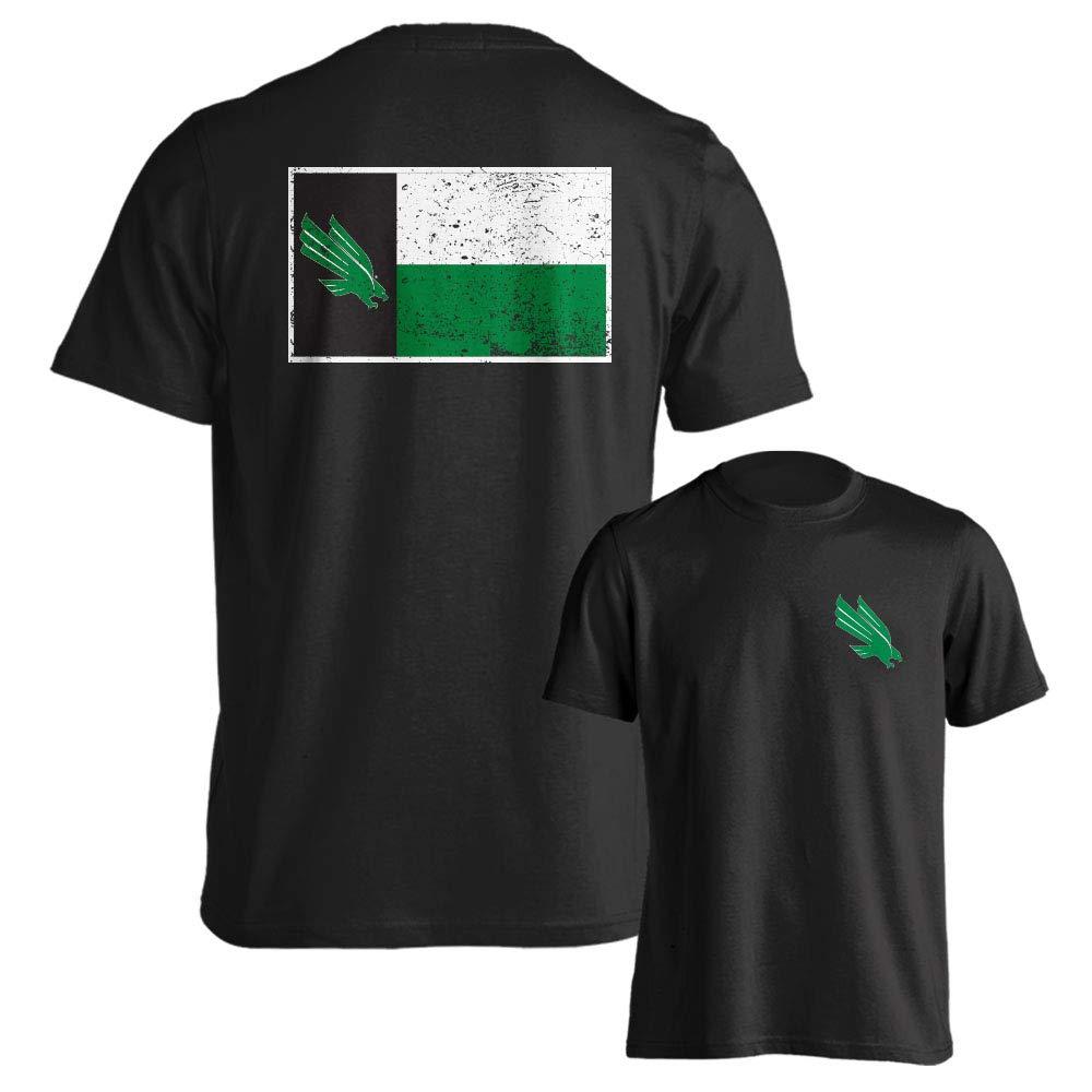 North Texas Mean Green Texas State Flag Short Sleeve T-Shirt