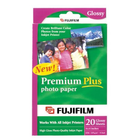 - FujiFilm Inkjet Premium Plus Paper Glossy 4 x 6 20 pack