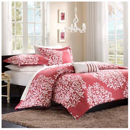 Home Essence Apartment Lyon Mini Comforter Set, Raspberry