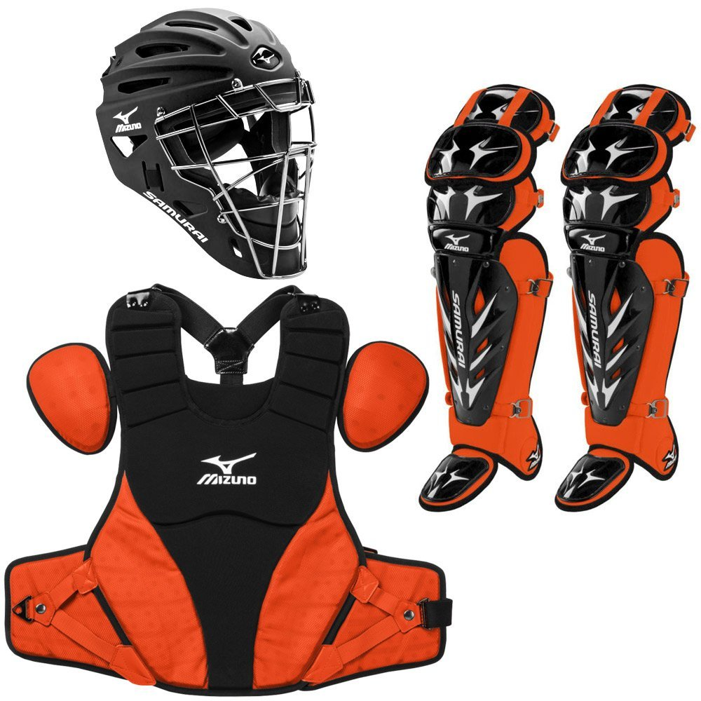 Mizuno Samurai Youth Baseball Catchers Set Black/Orange