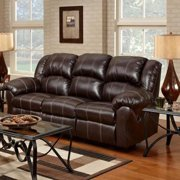 Chelsea Home Ambrose Reclining Leather Sofa Brandon Brown