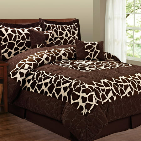 - Fashion St. 6-Piece Micro Suede Animal Print Bedding Set