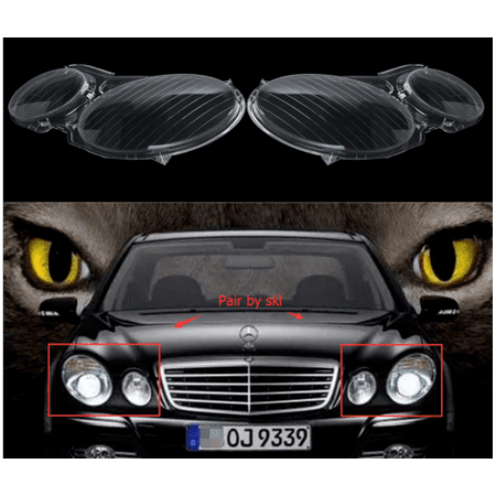 Headlight Lenses Headlamp Cover FOR MERCEDES BENZ E CLASS W211 E240 E200 E350 E280 E300 (Mercedes Benz Headlight Lens)