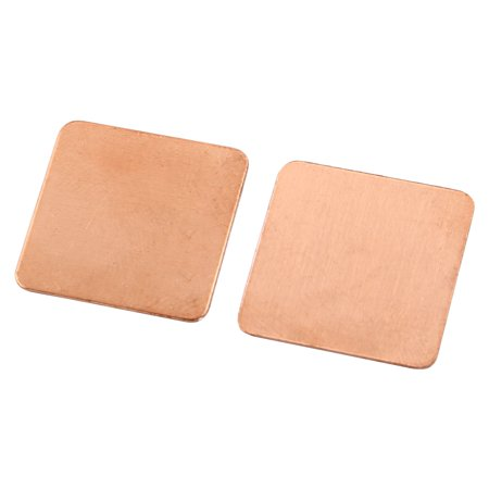 Copper Square Thermal Pad Shim 10 PCS for PC Laptop CPU 20mm x 20mm x 0.5mm - image 1 of 3