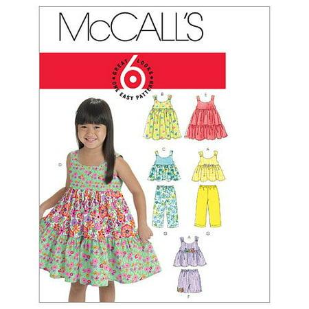 McCall's Patterns M60 Toddlers'Children's Tops Dresses Shorts Unique Mccalls Patterns