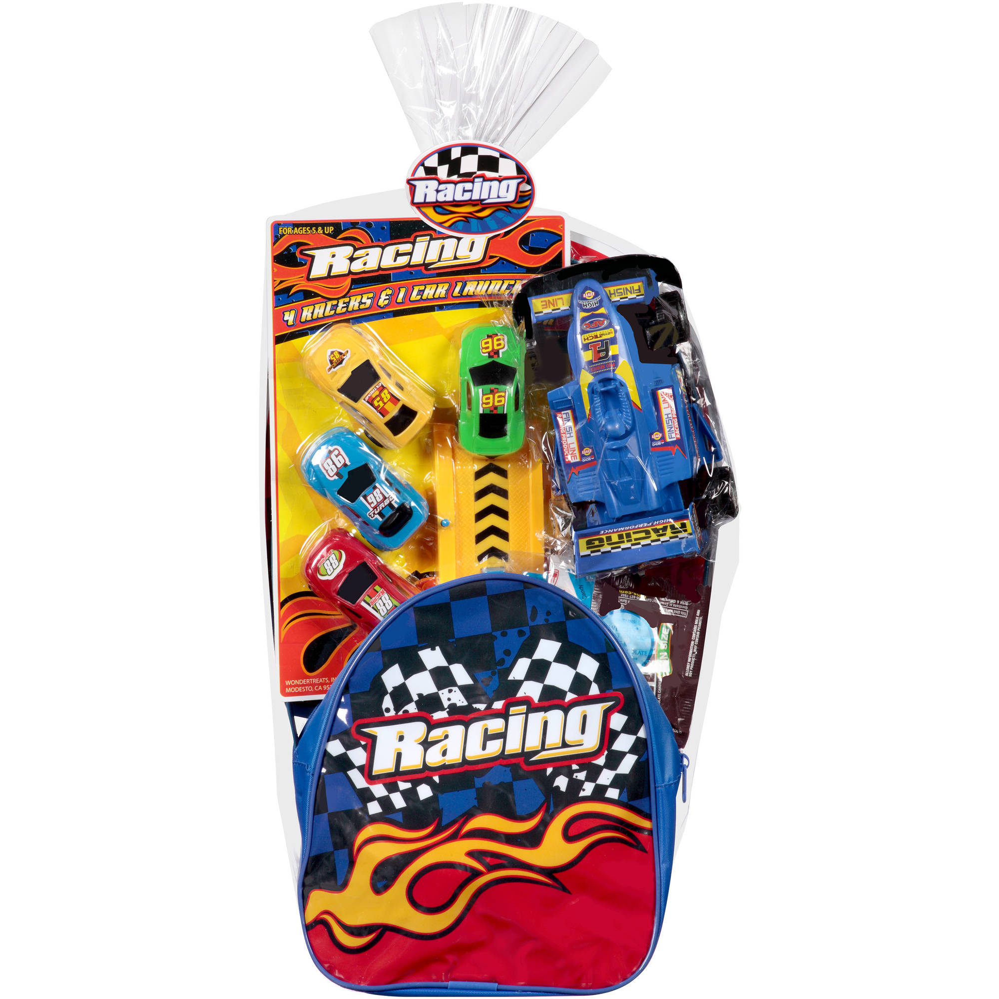 Wondertreats Racing Backpack W/ Toys Basket