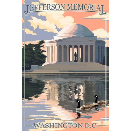 Washington, DC - Jefferson Memorial Print Wall Art By Lantern (Memorial Wall Dc)