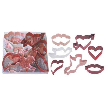 R & M International Corp. 7 Piece Valentine Cookie Cutter - Valentine Cookie