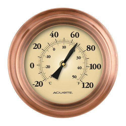 Weathered Copper Porthole Thermometer