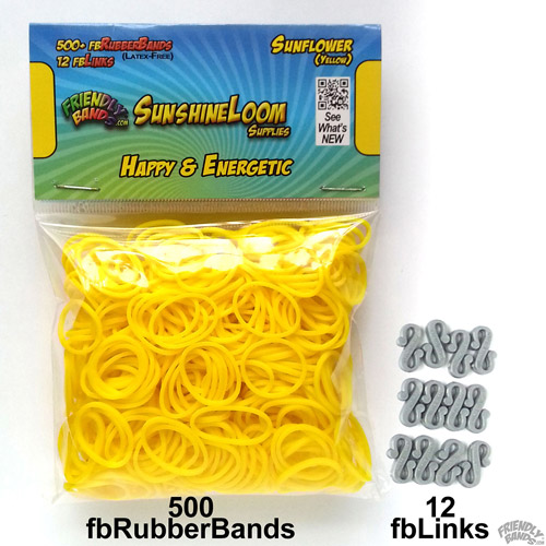Friendly Bands Sunshine Bands Pack, Sunflower Yellow
