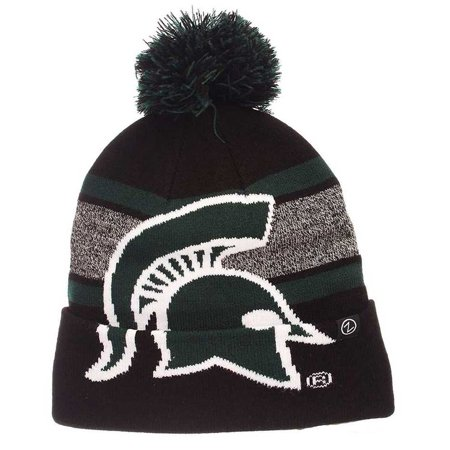 zephyr hats ncaa michigan state university spartan knit beanie hat