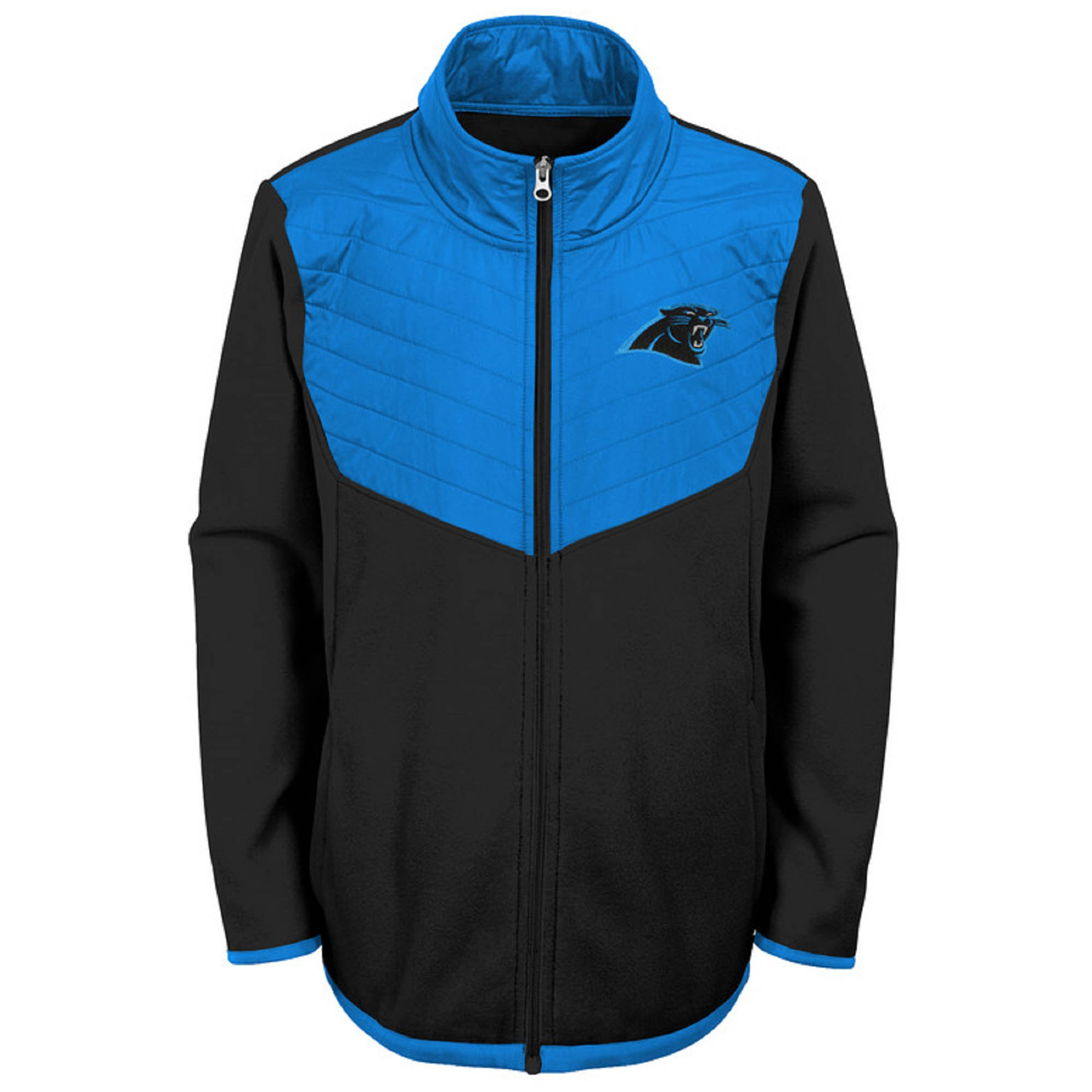 lowest price f92fe 4d243 Youth Black/Blue Carolina Panthers Polar Full-Zip Jacket ...