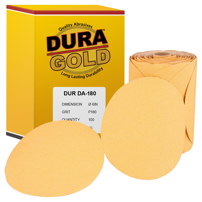 "180 Grit 6/"" Self Stick PSA DA Sanding Discs Sandpaper 100 Discs"