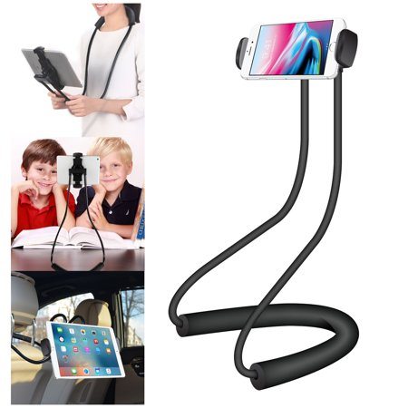 """Multifunctional Holder for Tablets and Smartphones up to 4-10"""" with 360 Degree Rotation, Lazy Holder for Neck and Waist Hanging - by Cellet"""