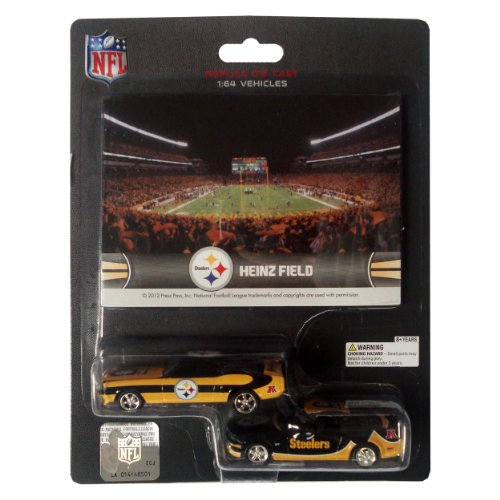 NFL Pittsburgh Steelers ford Mustang and Dodge Charger 1:64 Scale Diecast Cars