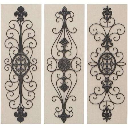 Wood metal decor 3 assorted wall decor for Al ahram aluminium decoration