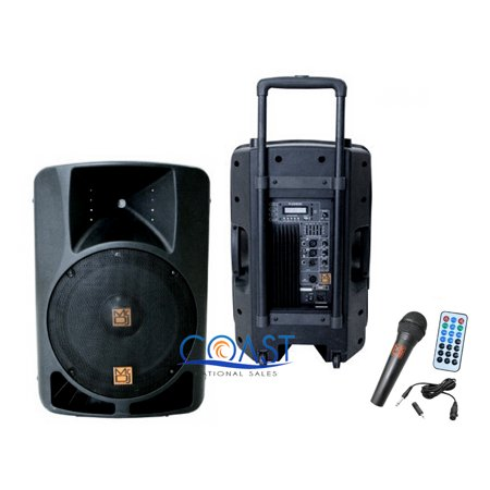 Mr. Dj PLED-4000 2-Way 15-Inch Portable Active Speaker with MP3/FM Radio/Bluetooth/Microphone (15 Dj Active Speakers)