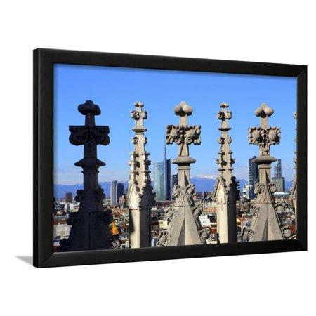 Porta Tv Milano.Milano New Skyline Porta Nuova District View From The Duomo Framed Print Wall Art By Stefano Amantini