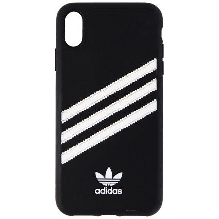 Adidas Moulded PU Samba Leather Case for iPhone X/Xs - Black w/ Stripes