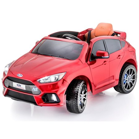 Official Sport Edition Ford Focus RS 12 V Battery Powered Ride On Electric Toy Car For Kids - Leather Seat- MP3 - RC Parental Remote Control - For Boys, Girls and (Electric Fork)