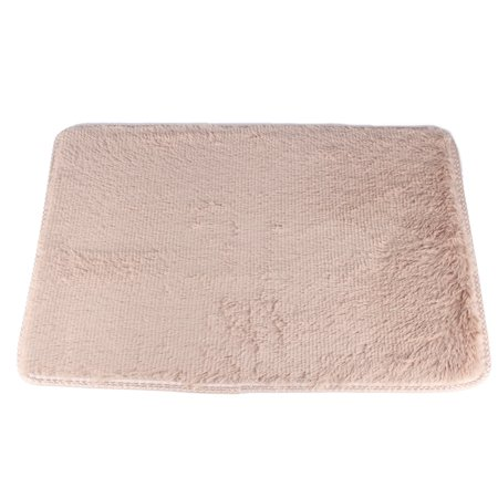 NK Home 24x47'' Rectangle Oblong Shape Bedroom Fluffy Rugs Anti-Skid Shaggy Area Office Sitting Drawing Room Gateway Door Carpet Brown Pink Red Grey ()