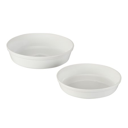 Better Homes & Gardens Classic Rim Pie Plate, Set of 2, White White Oval Pie Dish