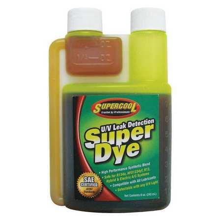 UV Leak Detection Dye, Green, Size 8 oz. SUPERCOOL 22816