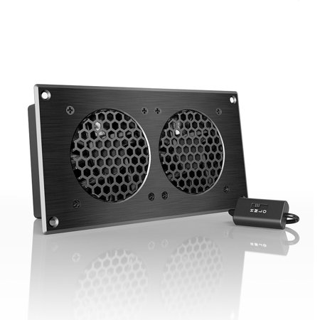 AC Infinity AIRPLATE S5, Quiet Cooling Fan System 8' with Speed Control, for Home Theater AV Cabinets (Cabinet Fans)