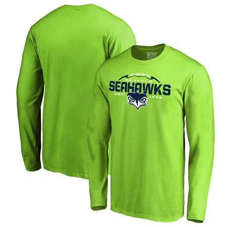 Seattle Seahawks NFL Pro Line by Fanatics Branded Alternate Team Logo Gear Flea Flicker Long Sleeve T-Shirt - Neon Green](Seattle Seahawks Gear)