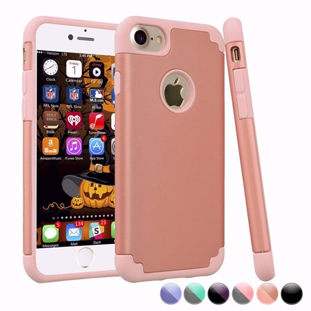 iPhone 6S Case, iPhone 6 Cute Case For Girls, Njjex [Rose Gold] Shock Absorbing Plastic Slim Thin Cover [Scratch Proof] TPU Rubber Inner Case For iPhone 6S/6 4.7 Inch (Girl Iphone Cases Under 5 Dollars)