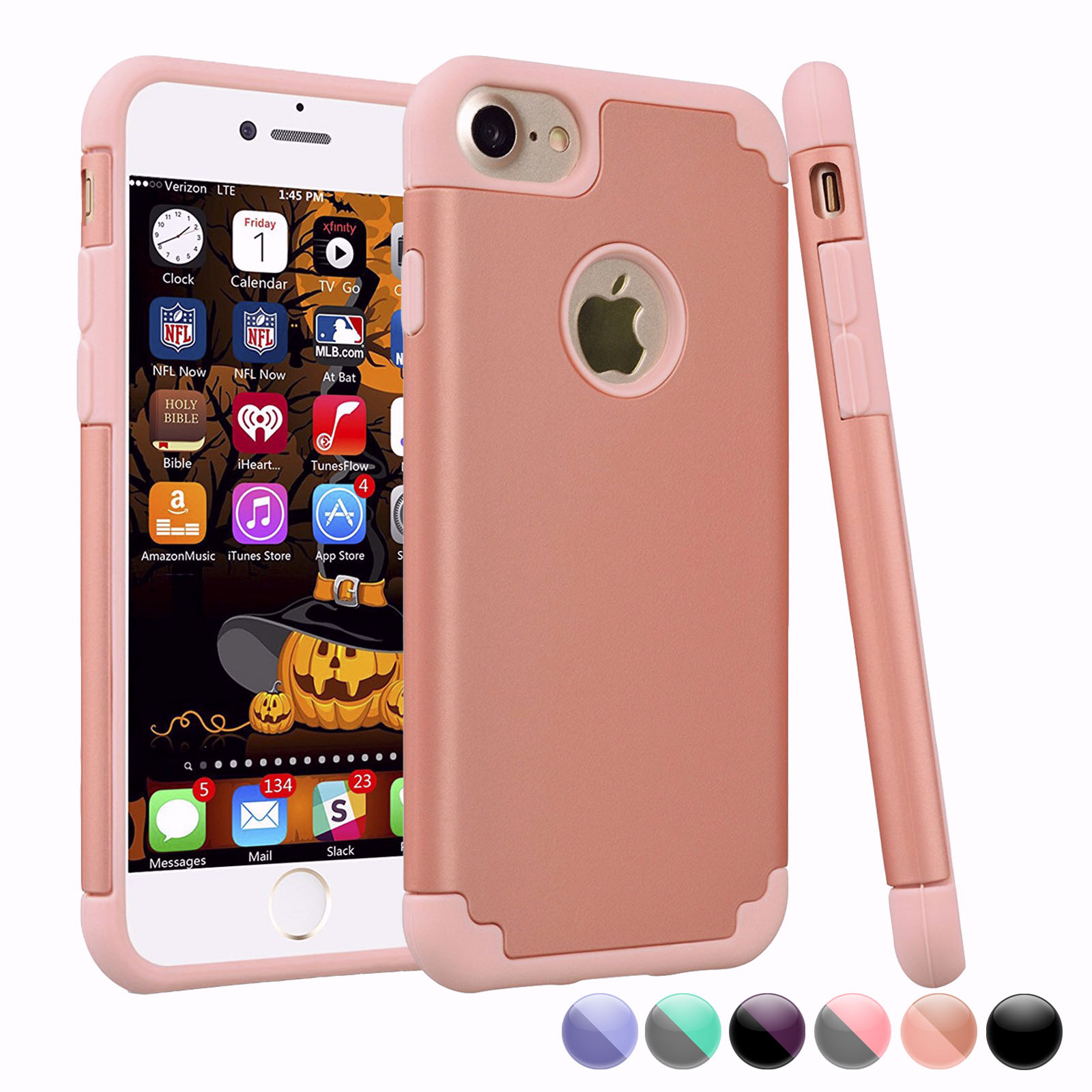 iPhone 6S Case, iPhone 6 Cute Case For Girls, Njjex [Rose Gold] Shock Absorbing Plastic Slim Thin Cover [Scratch Proof] TPU Rubber Inner Case For iPhone 6S/6 4.7 Inch