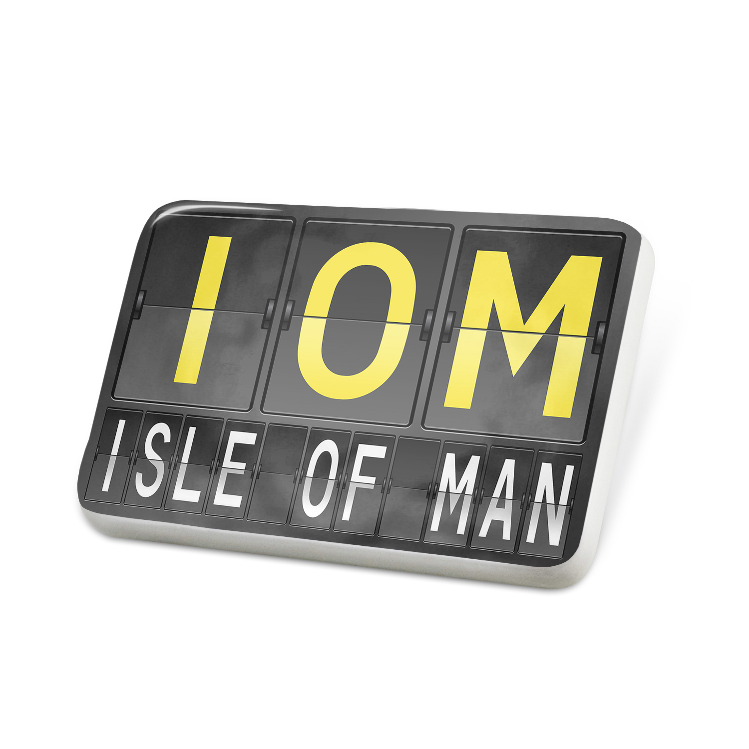 Porcelein Pin IOM Airport Code for Isle of Man Lapel Badge – NEONBLOND