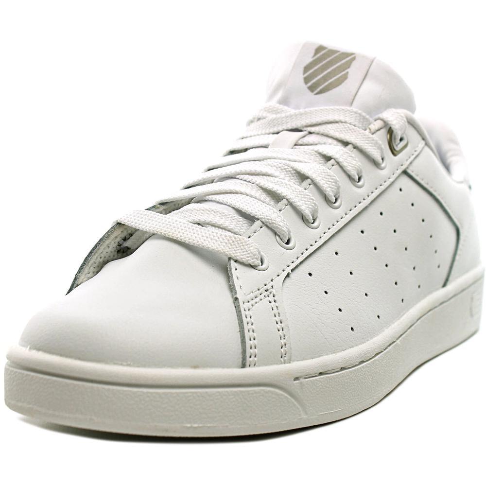 K-Swiss Clean Court CMF Women Round Toe Leather White Tennis Shoe by K-Swiss