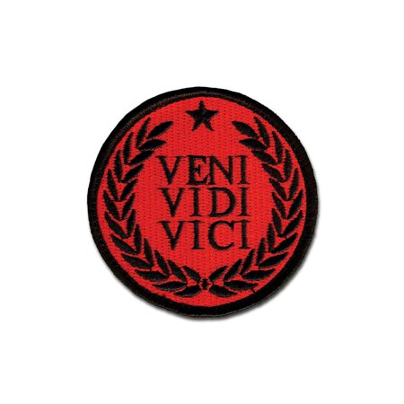 Emb Morale Patch   Veni Vidi Vici Red