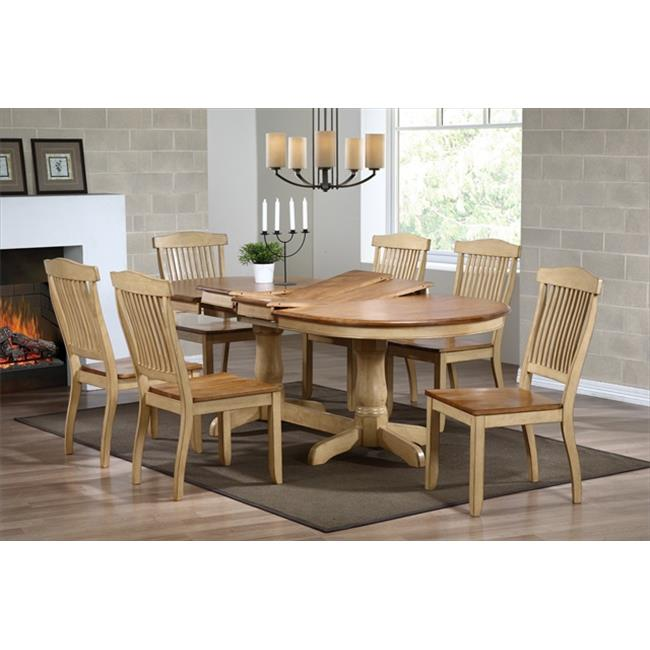 Iconic Furniture Oval Dining Table, Honey & Sand