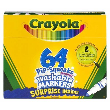 Crayola Pip-squeaks Washable Markers - Conical Marker Point Style - 64 / Set ()
