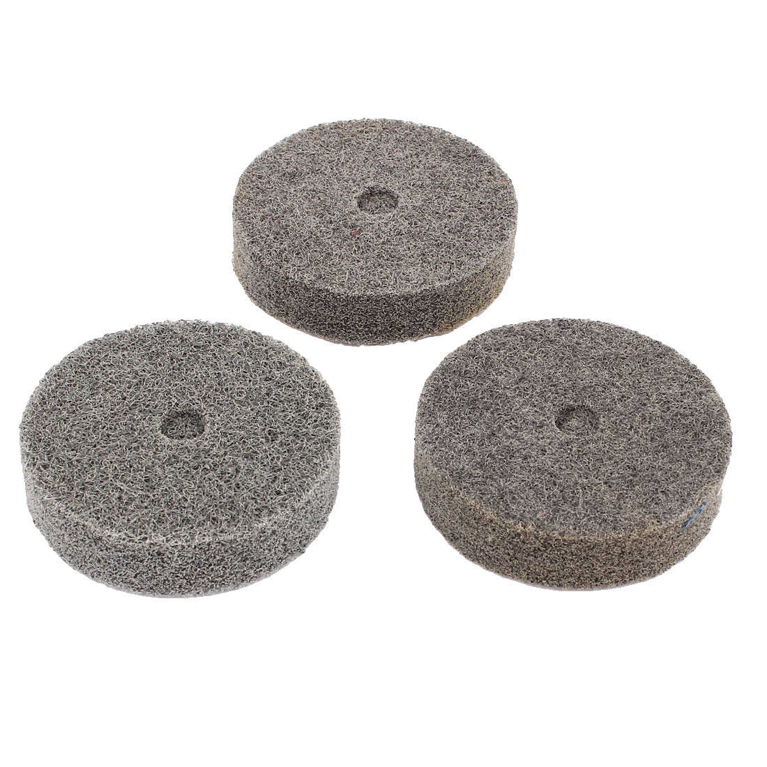 Unique Bargains3pcs 180 Grit Gray Nylon Fiber Cylindrical Grinding Wheel Grinder Tool