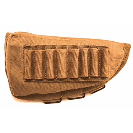 Acme Approved Rifle Buttstock Cheek Rest Ammo Pouch - Tan thumbnail