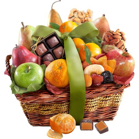 Golden State Fruit Orchard Delight Gift Basket, 14 (Birthday Chocolate Fruit Basket)
