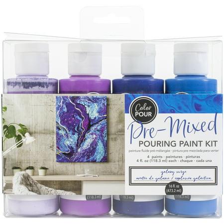American Crafts Color Pour Pre-Mixed Paint Kit 4/Pkg-Galaxy Surge