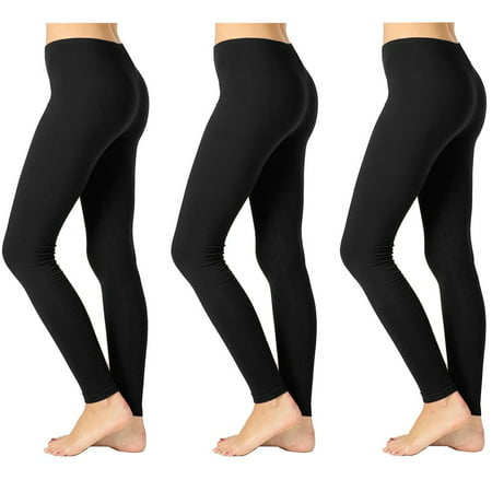 - Women's 3-Pack Opaque Seamless Ankle Length Stretch Legging