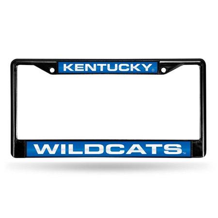 Kentucky Wildcats NCAA Black Chrome Laser Cut License Plate Frame